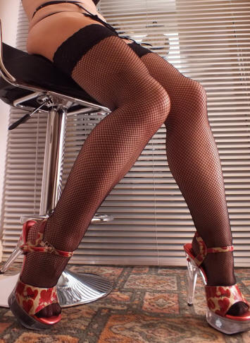 Beileisi lace top fishnet stockings Black