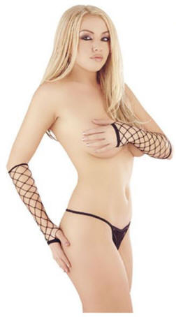 Elbow length fence net gloves