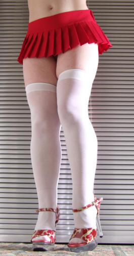 Fever hosiery white hold up stockings
