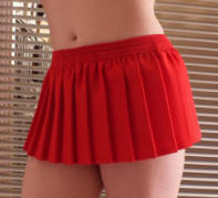 8 inch Red Knife Pleated mini skirt