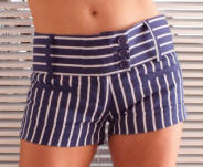 LOOK Striped shorts