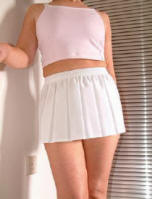 White sports mini skirt