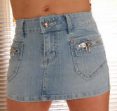 Stretch Denim micro mini skirt