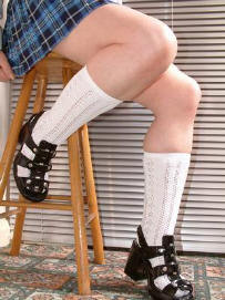 Traditional white school socks