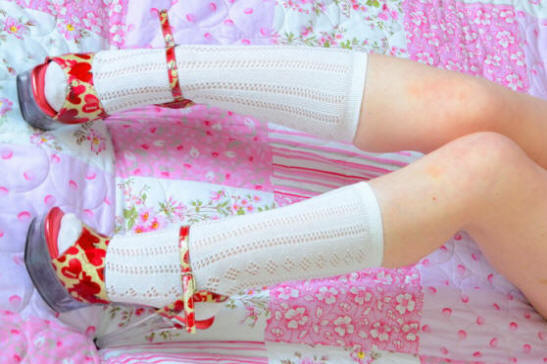 Traditional white pelerine school socks