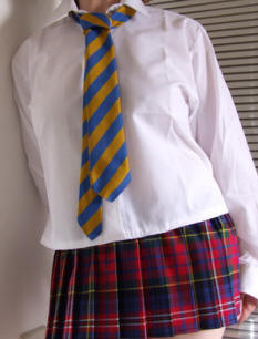 Comprehensive tie blue and gold