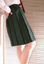 adult box pleated school skirt