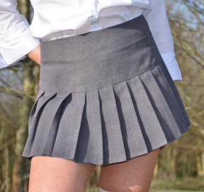 Britney grey School skirt