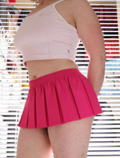 Candy pink mini skirt