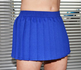 Electric blue knife pleated micro mini skirt