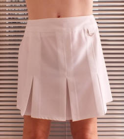 White Tab ring school sports skirt