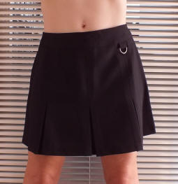 Black Tab ring school skirt